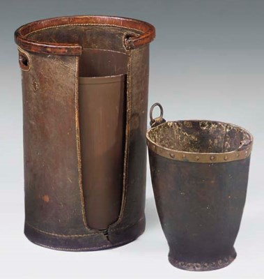 A VICTORIAN STITCHED LEATHER P