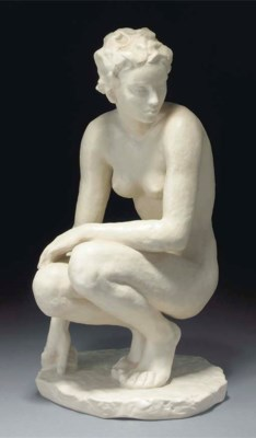 'Crouching' a Rosenthal figure