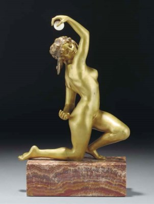 'Nude with High Ball' a patina