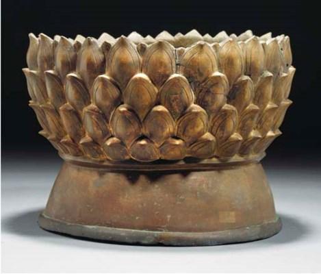 A Sino-Tibetan gilt bronze lot