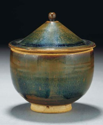 A hare's fur glazed bowl and c