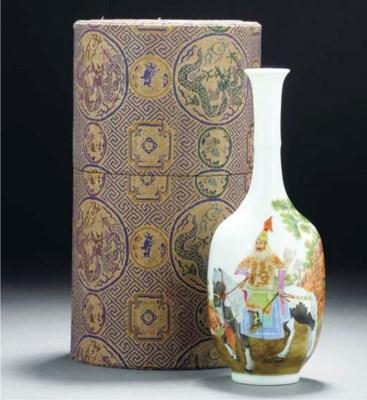 A famille rose ovoid vase, 20t