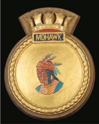 THE SHIP'S BADGE FROM H.M.S. M