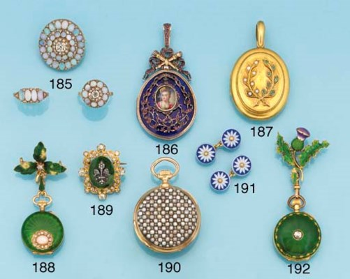 A suite of Victorian opal and
