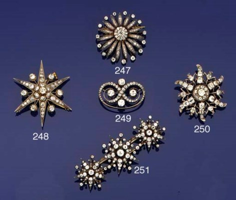 A Victorian diamond cluster br