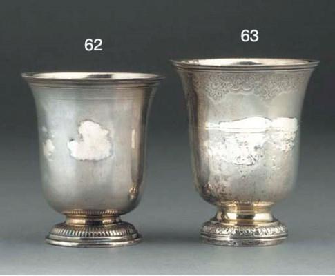 A Louis XV Silver Beaker