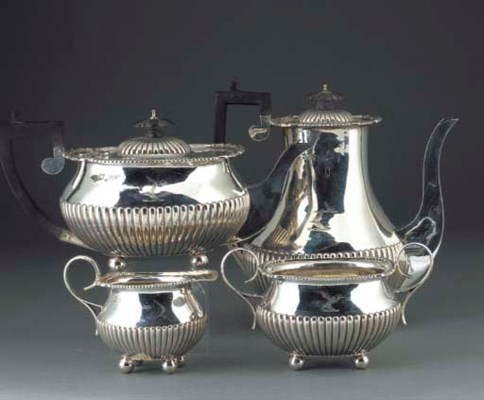 A Four-Piece Late Victorian Si