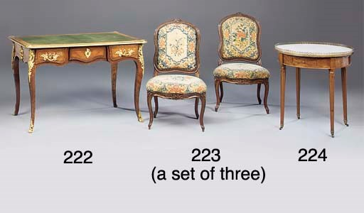 A SET OF THREE LOUIS XV BEECHW