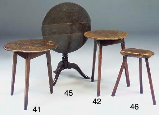 AN ENGLISH OAK CRICKET TABLE