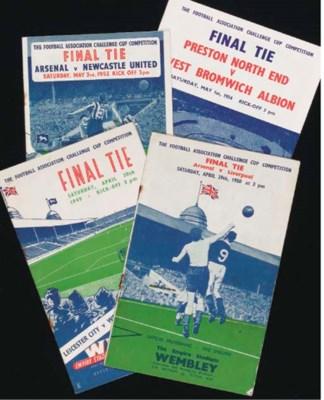 FOUR F.A.CUP FINAL MATCH PROGR
