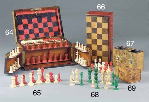 A Burmese carved ivory chess s