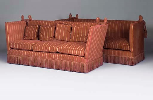 A MATCHED PAIR OF KNOLE SOFAS