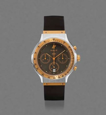 Hublot. A stainless steel and