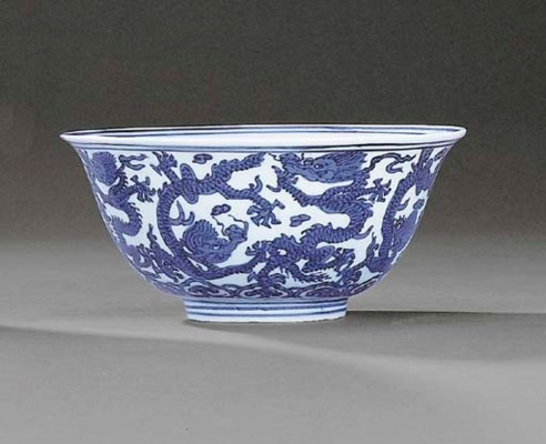 A FINE LATE MING BLUE AND WHIT