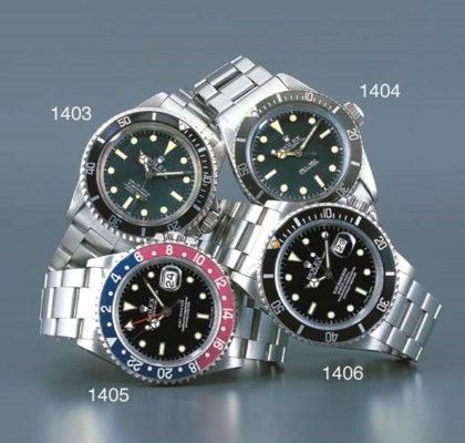 ROLEX. A STAINLESS STEEL WATER