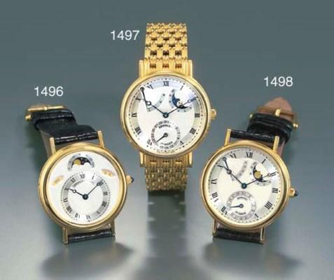 BREGUET. A FINE 18K GOLD SELF-