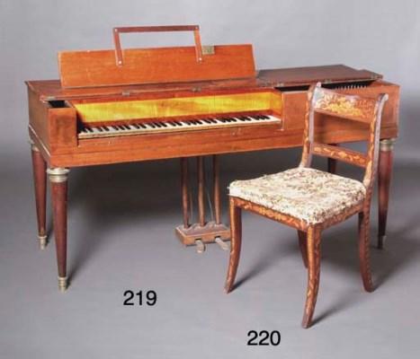 A FRENCH EMPIRE SQUARE PIANO