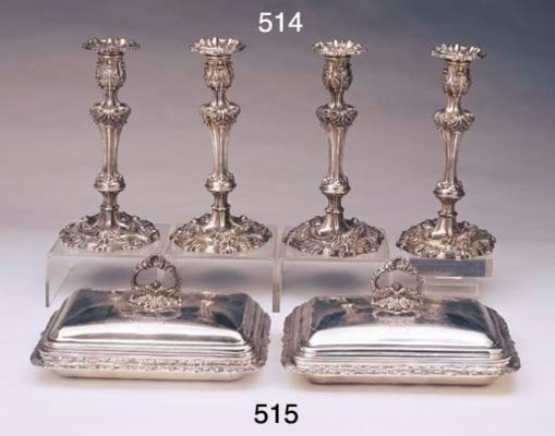 A SET OF FOUR GEORGE III STERL
