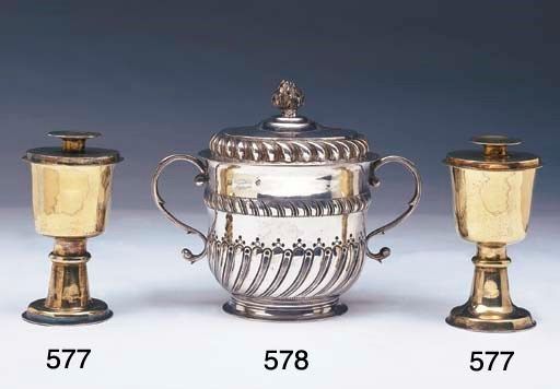 A PAIR OF CHARLES II GILT CHAL