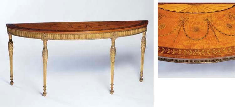 A GEORGE III GILTWOOD AND INLA