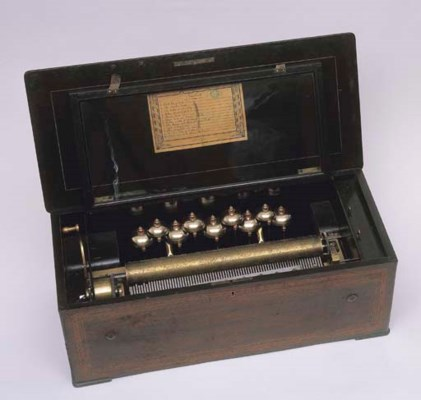 A 'BELLS IN VIEW' MUSICAL BOX