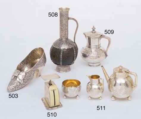 A VICTORIAN STERLING SILVER BA