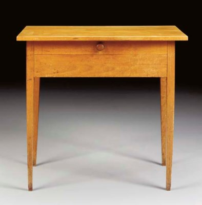 A SHAKER WALNUT SIDE TABLE