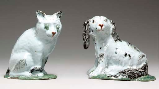 TWO BRUSSELS FAIENCE MODELS OF
