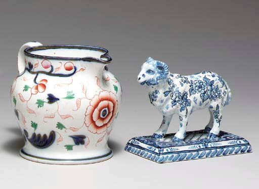 A STAFFORDSHIRE PEARLWARE CIDE