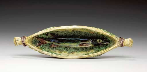 A FRENCH PALISSY STYLE TROMPE