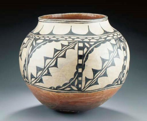 A LARGE COCHITI POLYCHROME JAR