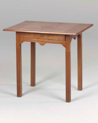 A CHIPPENDALE MAHOGANY SIDE TA