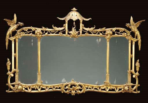 A CHIPPENDALE-STYLE GILTWOOD M