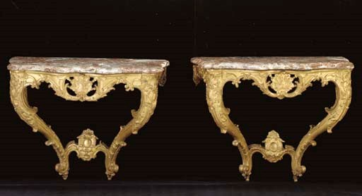 A NEAR PAIR OF EARLY LOUIS XV