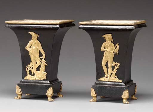 A PAIR OF CHARLES X ORMOLU MOU