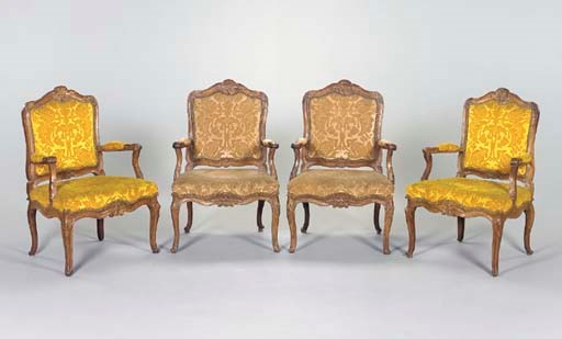 A SET OF FOUR EARLY LOUIS XV P