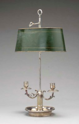 AN EMPIRE STYLE SILVERED METAL