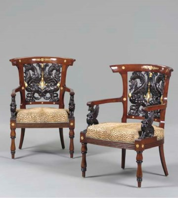 A PAIR OF RUSSIAN GILT-METAL-M