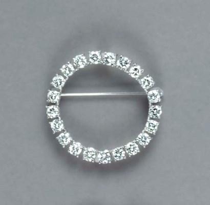 A DIAMOND AND PLATINUM CIRCLE
