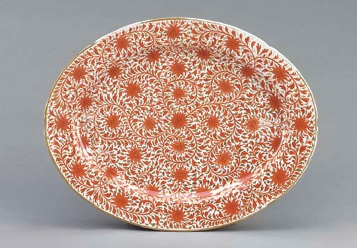 AN ENGLISH LARGE OVAL PLATTER,