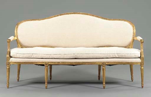 A GEORGE III STYLE GILTWOOD SO