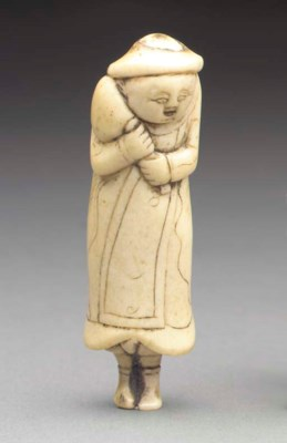 A Stag-Antler Netsuke and an I