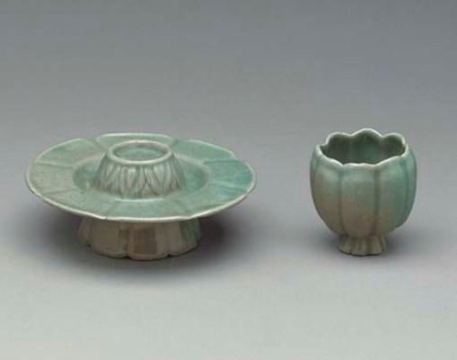 A Celadon Stoneware Stand