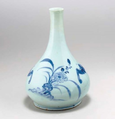 A Blue and White Porcelain Bot