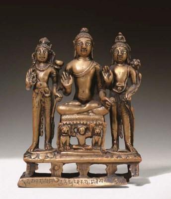 A Bronze Buddhist Triad