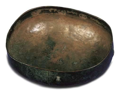 A Large Bronze Kapala-Form Rit