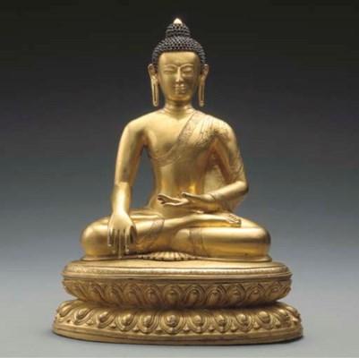 A Large Gilt Bronze Figure of