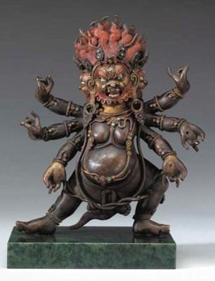 A Bronze Figure of a Wrathful