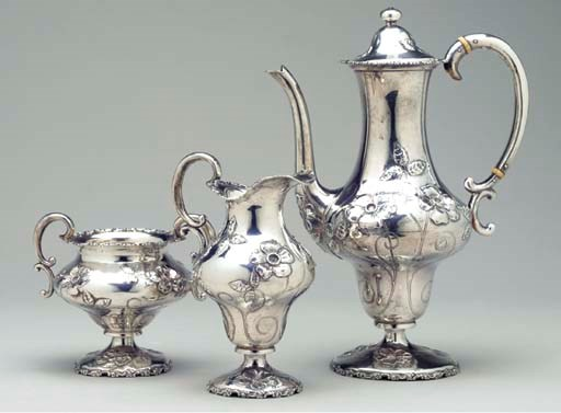 AN AMERICAN SILVER THREE-PIECE