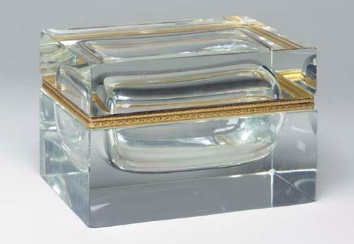 A LARGE GLASS AND GILT-METAL M